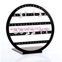 China POP acrylic jewelry display stand plexiglass earring display rack on sale