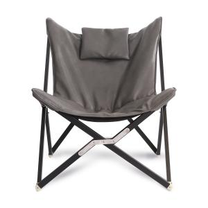 China Folding Steel Tube Modern Comfort Chair , Butterfly Stylish Chairs For Living Room on sale