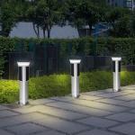 1 Metre solar light post 360 degree lighting high efficiency decorative solar street lights