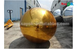 China 1m PVC gold inflatable mirror ball for indoor decoration wedding party on sale