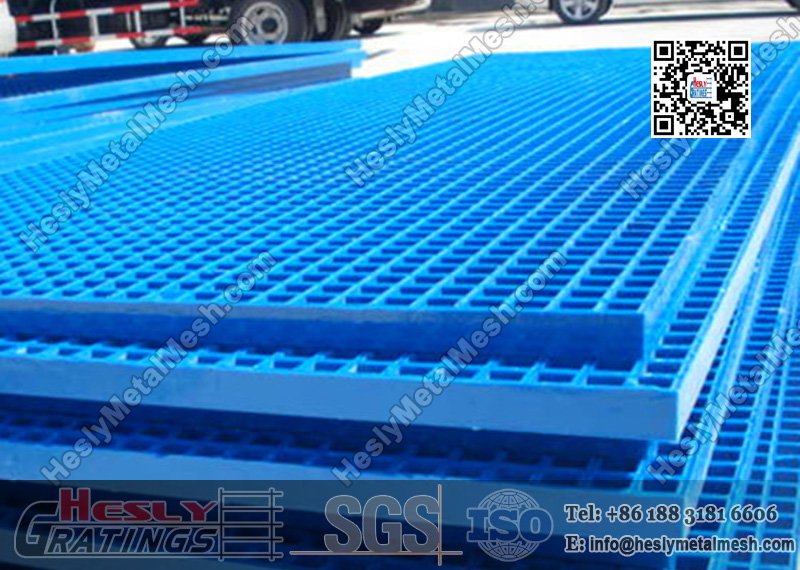Blue Color Molded FRP Grating