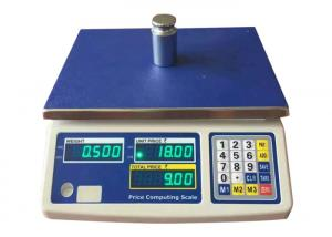 China AC / DC Digital Weight Scale 3kg - 30kg Digital Price Computing Scale With Green LED on sale