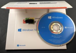 China Genuine Microsoft Win10 home 32bit 64bit OEM package coa sticker DVD windows 10 home computer software system on sale