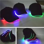 New Adult Cotton Black Shining LED Light Baseball Cap Stage  Hats Adjustable Bone 3 Colors
