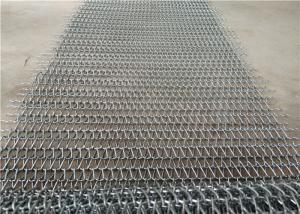China Heat Resistance Stainless Steel Wire Mesh Conveyor Belt With Chain on sale