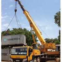 Yellow Diesel Truck Crane QY35K5 / Telescopic Boom Crane with 36930kg Payload
