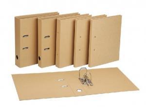 China Recycled Kraft Lever Arch File Folder / Paper File Folder on sale