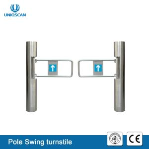 China Automatic Opening Swing Security Turnstile Gate Wide Channel Smart Card Access Control on sale