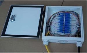 China New mode of FTTH System Cold - roll steel fiber optic terminal box on sale
