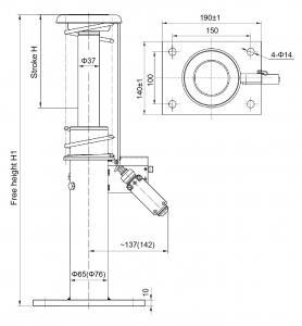 CE Standard Elevator Safety Components Elevator Oil Buffer Load 600