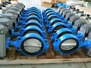 China Pneumatic Wafer Butterfly Valves  Pneumatic Rotary Actuator Control Valves on sale