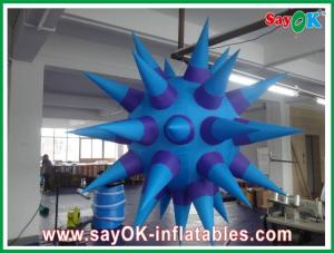 China Hanging Inflatable Lighting Decoration , Purple 2m Inflatable Led Star on sale
