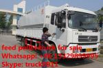 8ton-12tons bulk feed tank mounted on cargo truck for sale, 8-12ton poultry feed tank mounted on dongfeng truck for sale