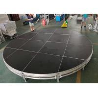 Black Circular Mobile Stage Platform Aluminum 6061-T6 Material For Concert