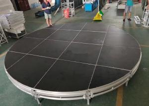 China Black Circular Mobile Stage Platform Aluminum 6061-T6 Material For Concert on sale