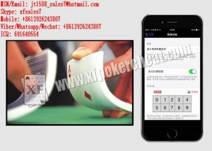 China XF iPhone 6 Poker Shuffling Software For Unmarked Playing Cards on sale