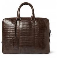 Santiago Gonzalez Men Crocodile Briefcase