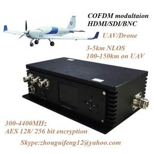 China Portable Wireless HDMI or HD SDI Cofdm Video Transmitter and Receiver for UAV Security on sale