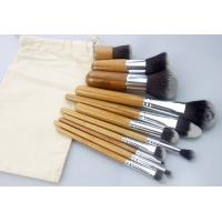 China Custom  Bamboo Synthetic Makeup Brushes 11Piece With Human Hair on sale