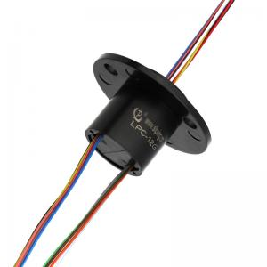China Capsule Slip Ring with 12 Circuits @1 amps Per Circuit, Rugged Anodized Aluminum Construction for Robotics on sale