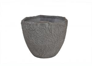 China Indoor Unbreakable Antique Clay Flower Pots / Glazed Ceramic Pots Eco Friendly on sale