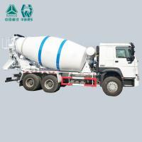 SINOTRUK Cement Mixer Vehicle , Hydraulic Concrete Mixing Transport Trucks