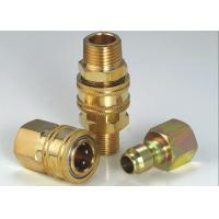 Anti Leakage High Flow Quick Disconnect Hydraulic Coupling For Steam Washers