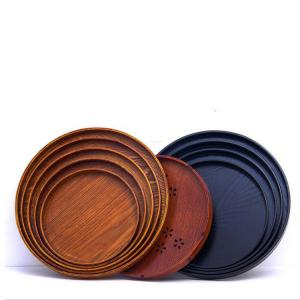 China High quality slate food serving plate round wooden plate on sale