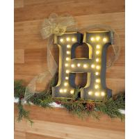Customized Metal Large Vintage Letter Lights For Indoor / Outdoor Decoration