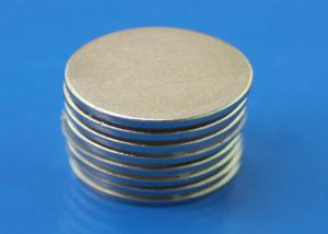 China Small 1.5mm Super Thin Strong Neodymium Disc Magnets With Nickel Plated on sale
