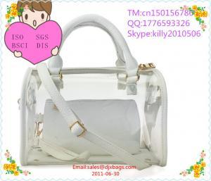 China 2014 bag factory Candy transparent PVC lady fashion handbag on sale