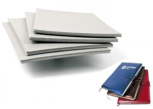 Quality FSC Special Paper Sponge Coated Grey Board for Notebook Cover / Wine Box for sale