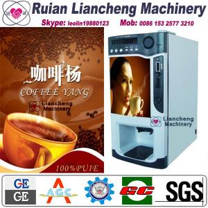 China coffee hot chocolate vending mac Bimetallicraw material 3/1 microcomputer Automatic Drip coin operated instant on sale