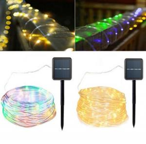 China Solar Powered 120LEDs 8Modes Waterproof Fairy Copper Wire Rope String Light for Christmas on sale