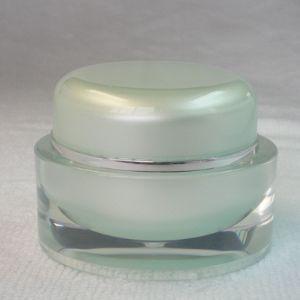 China cosmetic cream jar,cosmetic square 50ml acrylic jar on sale