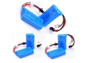 China Blue PVC Wrap Medical Equipment  Battery 7.4V 650mah With PCM / Connector on sale