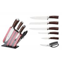 China Anti Oxidant Knife Block Set Acrylic Block Double Pakka Wood Forged Handle on sale