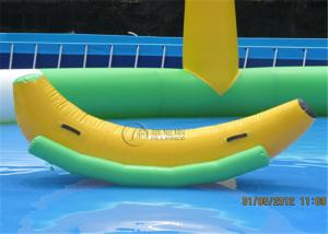 China New inflatable seesaw banana seesaw ride-on pool toys for commercial on sale