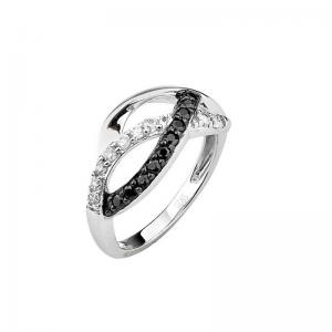 China Micro pave simple style silver rings on sale