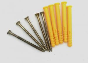 China Plastic Fish - Shaped Expansion Anchor Bolt With Countersunk Head Tapping Screw on sale
