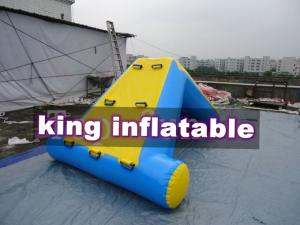 China Commercial 0.9mm PVC Tarpaulin Inflatable Big Air Slide For Water Park on sale