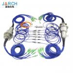Multi - Channels Fiber Optic Rotary Joint  High Speed With Aluminum Housing