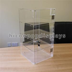 China Lockable 4 - Layer Clear Acrylic Display Tower Desktop Waterproof Display Case on sale