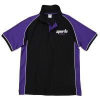 Purple / Black Cool Dry Unisex Short Sleeve Sublimation Polo Shirt  Children - Adult