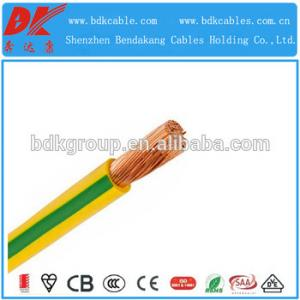 China Single Core 6mm PVC Insulated Flexible Earth Cable on sale