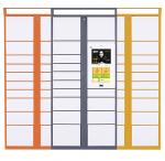 Colorful Smart Lockers For Packages , Android / Windows Parcel Locker System