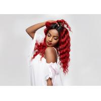 4*4 Lace Closure Lace Front Wigs #1B Red Loose Deep Wave Human Hair For Black Women