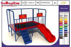 China Rectangle Kids Jump Exercise Rectangular Trampoline With Enclosure Safe EU Standard Fitness Park on sale