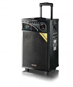 China 10 Inch Bass Rechargeable Trolley Speaker , Usb Powered Portable Speaker On Wheels on sale