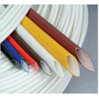 China Extruded Silicone rubber fiberglass sleeving on sale